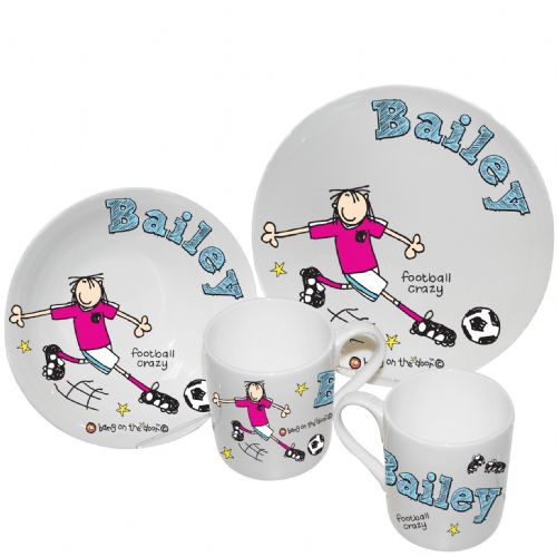 Personalised Football Crazy Breakfast Set
